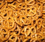 ... but including pretzels in the washing-up process is not to be recommended, unless you want a soggy snack.